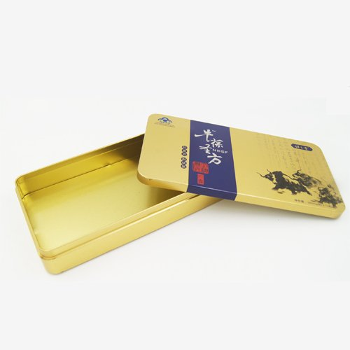 DSC05710 - Custom Rectangular Metal Tin Pencil Box With Emboss Lid