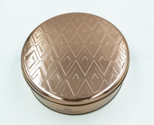 Rose Gold Tin Containers