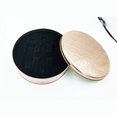 IMG 20191224 125621 - Round Metal Tins Large Box for Cosmetic With Rose Gold Colour