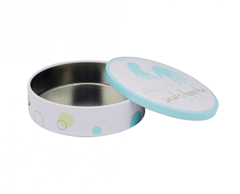 Round Small Tin Containers With Lids For Cosmetic Packaging