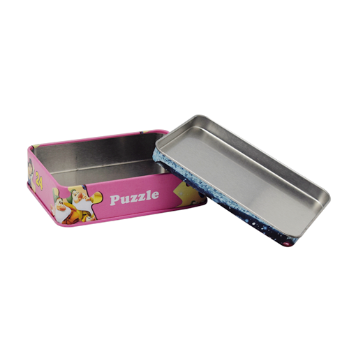 TW7106 003 - Custom Small Rectangular Tin Can For Gifts Card Pacakging