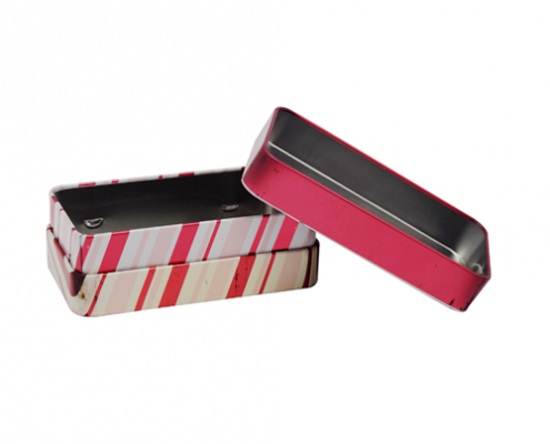 Rectangle Tin Box With Lid