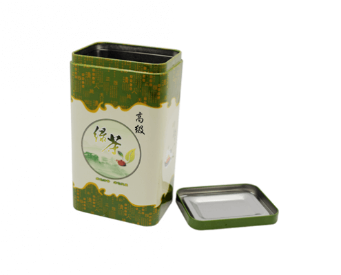 Custom Rectangular Tea Tin Container For Tea Coffee Packaging