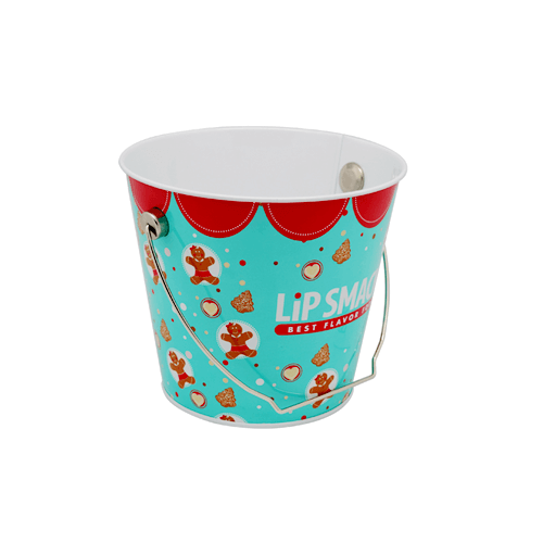 TW836 001 - Custom Round Metal Tin Bucket For Chrismas Gifts Packaging