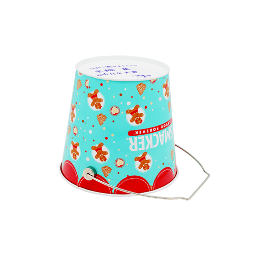 TW836 002 - Custom Round Metal Tin Bucket For Chrismas Gifts Packaging