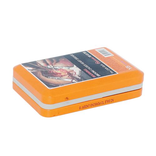 TW901 001 - Gepaste reghoekige metaalbak klein vir sigaretverpakking