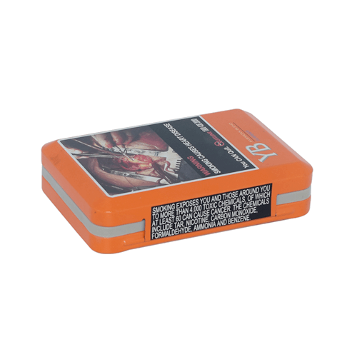 TW901 002 - Custom Rectangular Metal Box Small For Cigarette Packaging